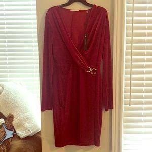 Red Long-sleeve Short Dress (never worn)